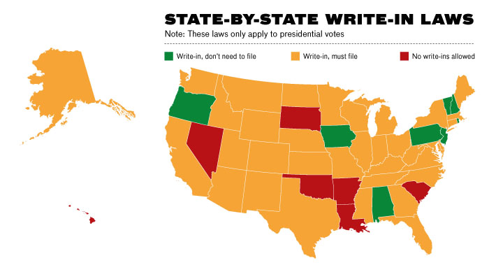 write-in map