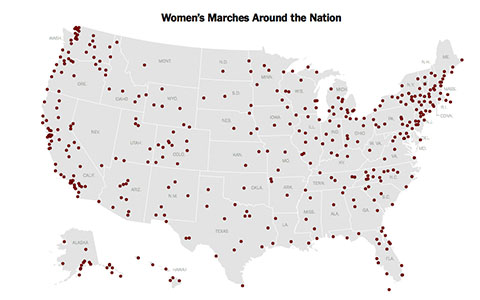 Map of marches