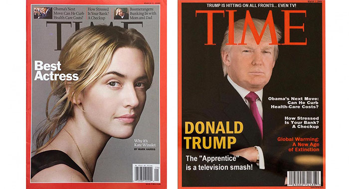 Real and fake Time covers