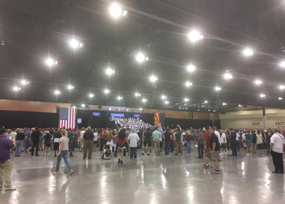 small Trump crowd