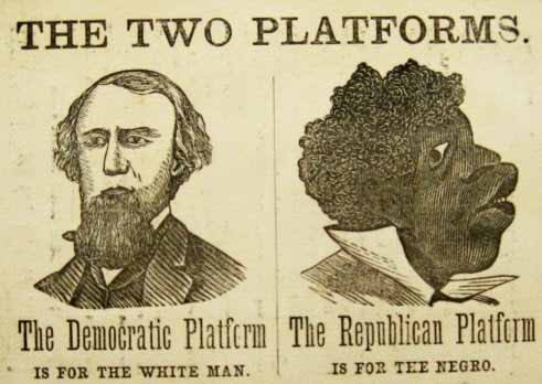 Racist caricature of black voters