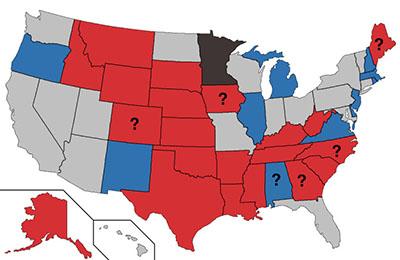 2020 Senate map