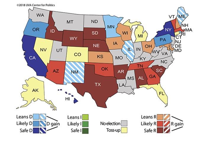 Sabato's gubernatorial map