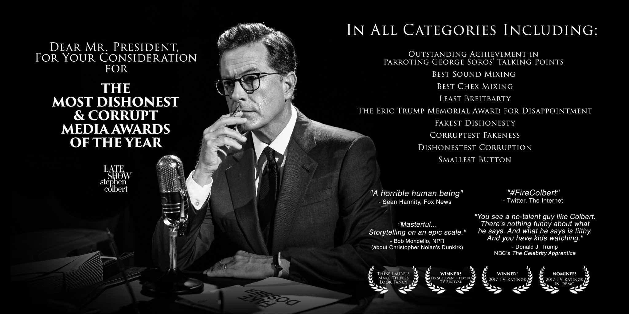 Colbert, for your consideration
