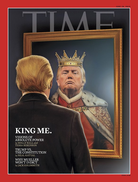 Time magazine, Trump as king
