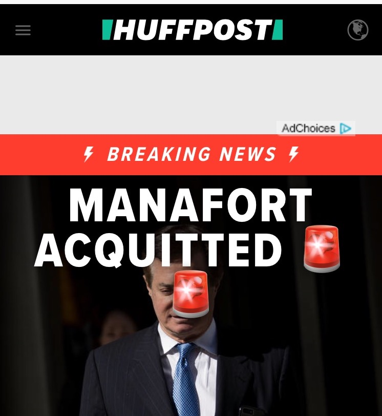 Manafort acquitted!