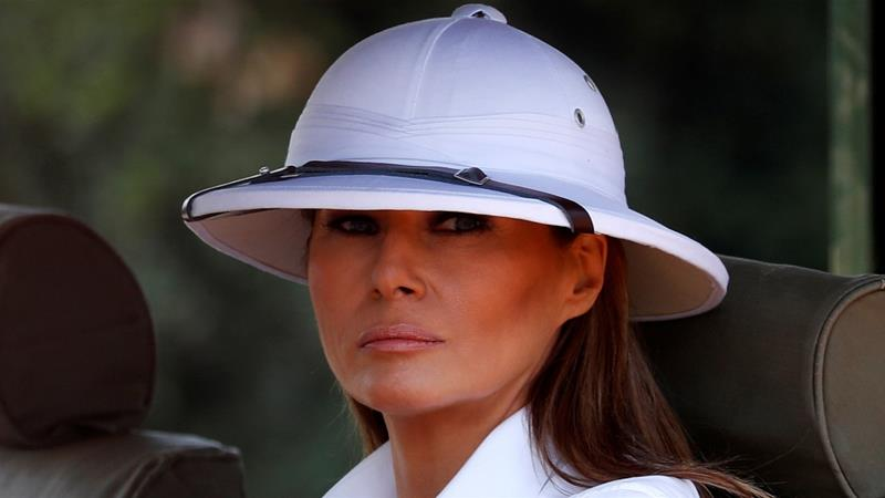Melania Trump as Indiana Jones