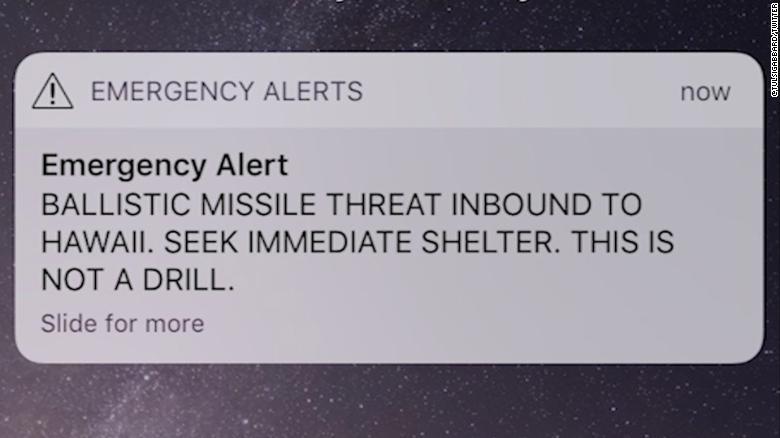 Missile warning in Hawaii