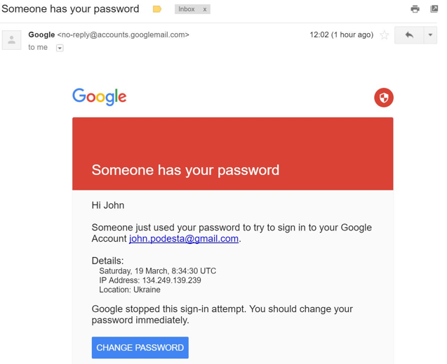 Fake gmail warning