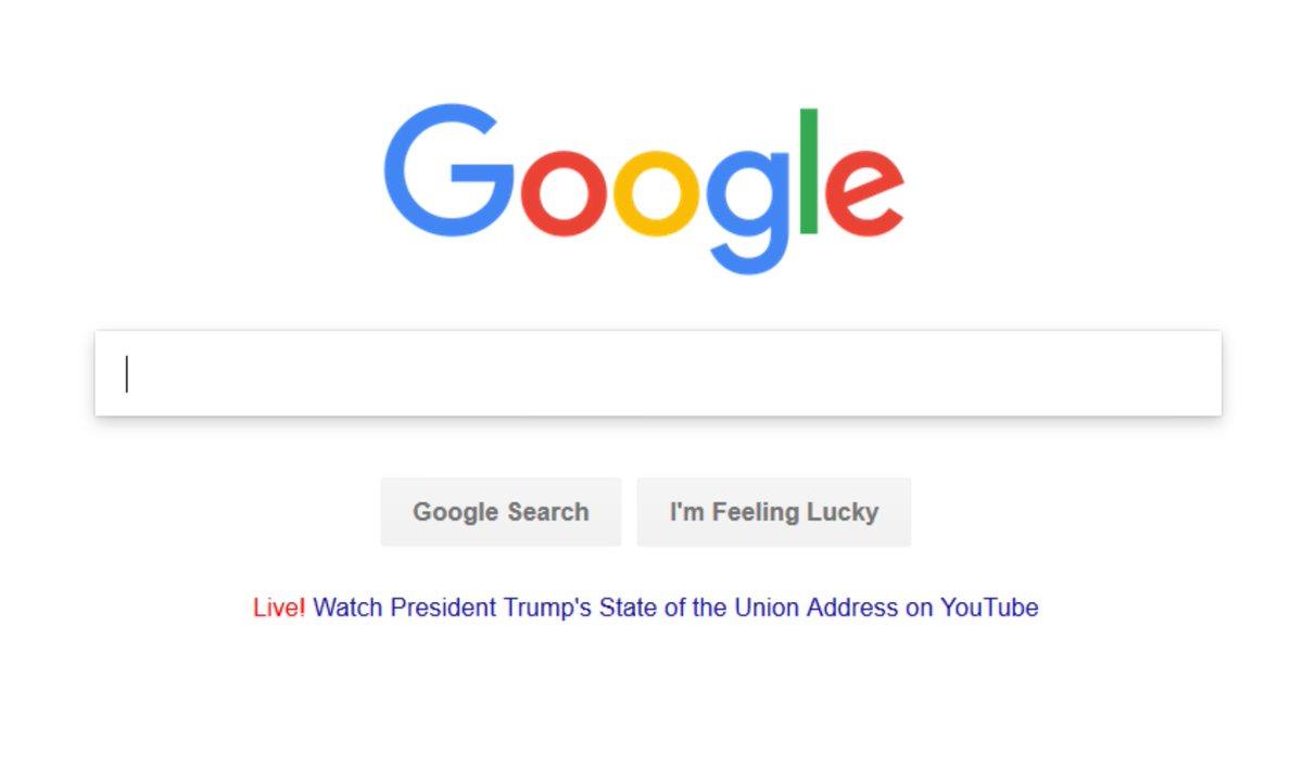 Google link to Trump SOTU