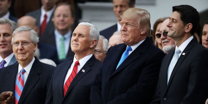 Trump, Pence, Ryan, and McConnell