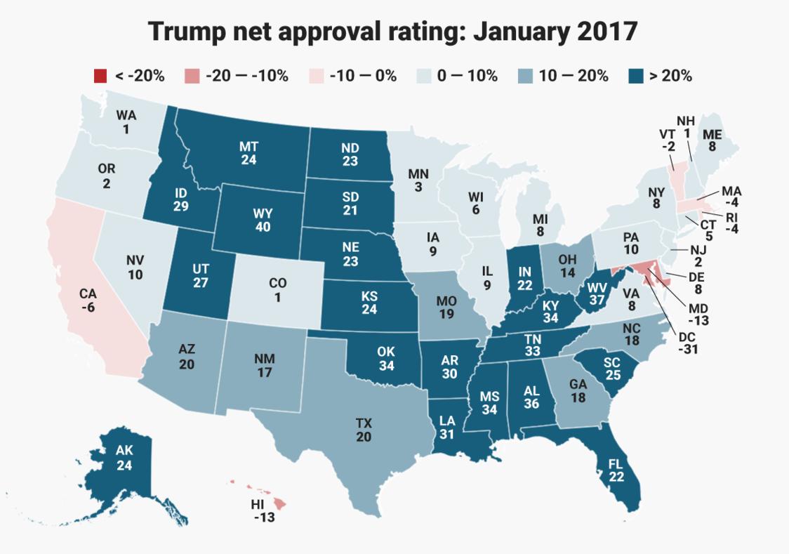 Trump approval, Jan 2017