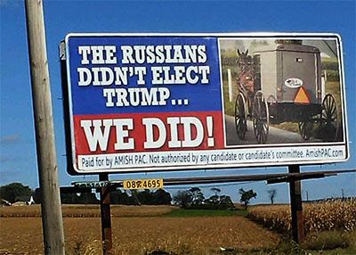 Amish billboard