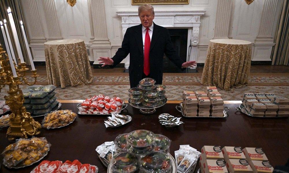 Trump and lots of Big Macs