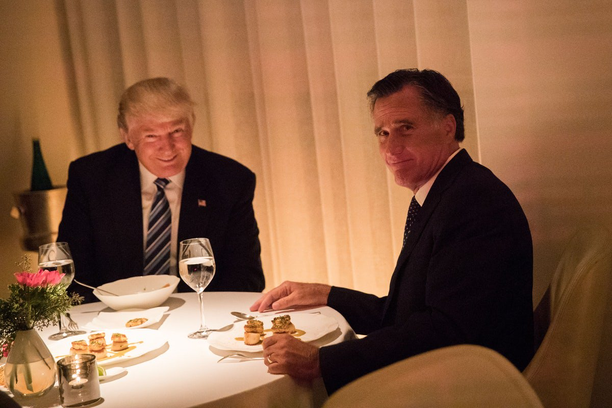 Trump and Romney have...dinner?