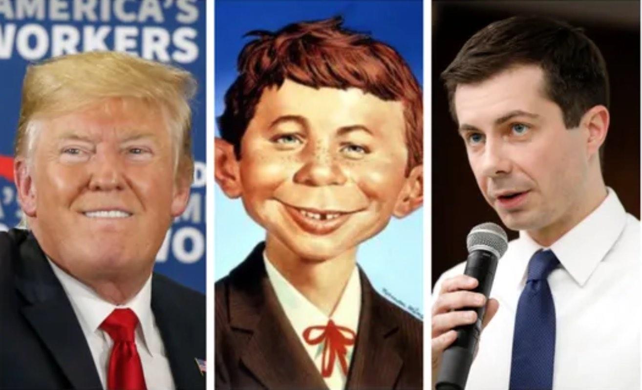 Trump, Neuman, Buttigieg