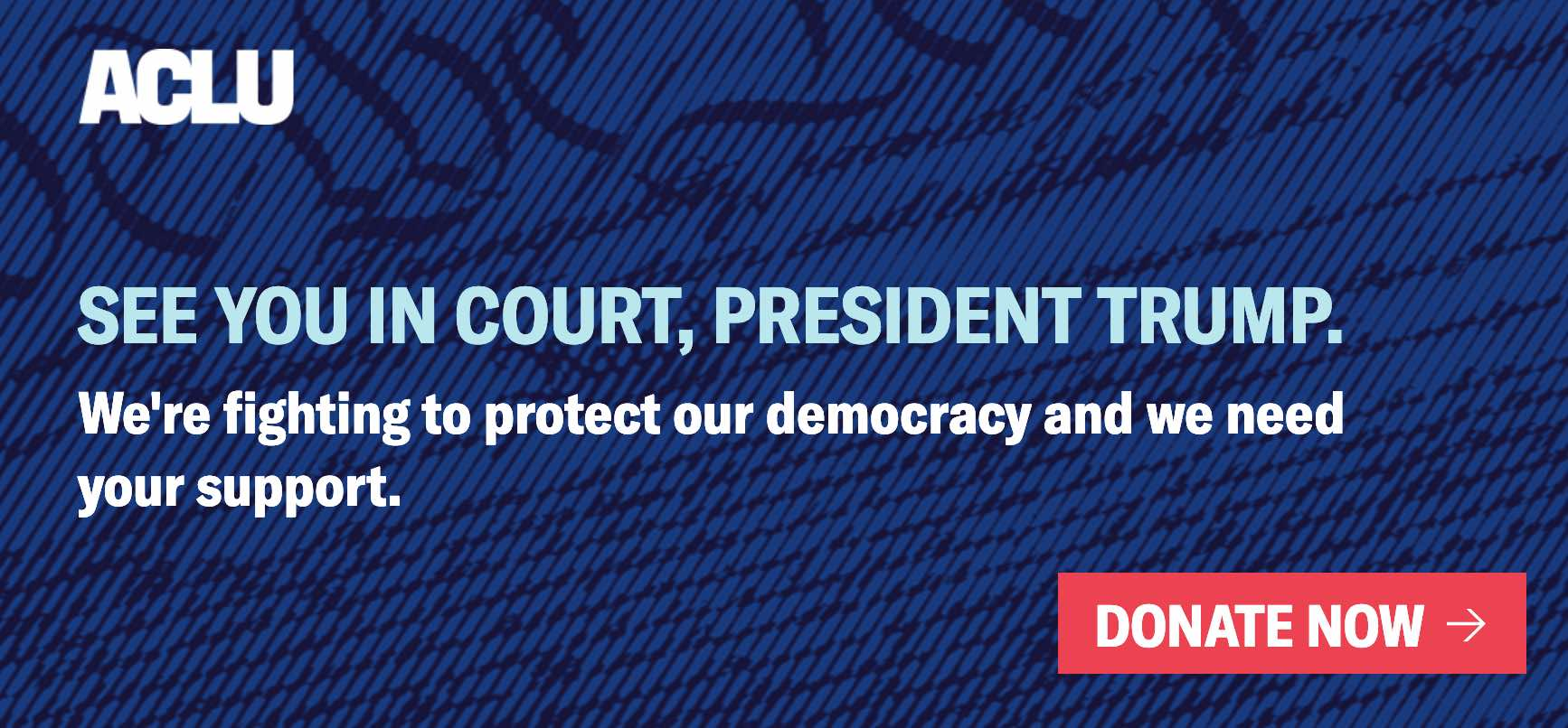 See you in court -- Love, the ACLU
