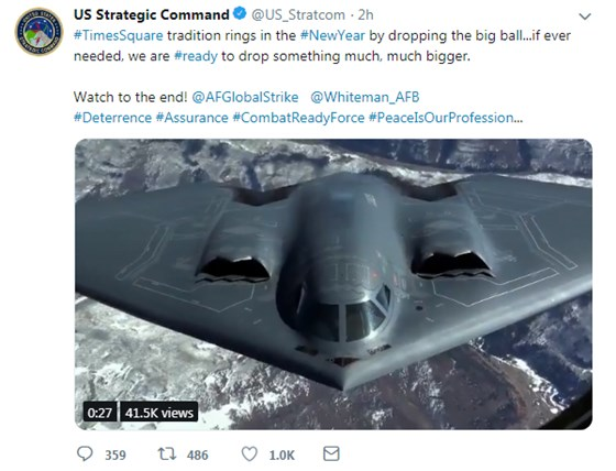 USSC makes a bombing reference