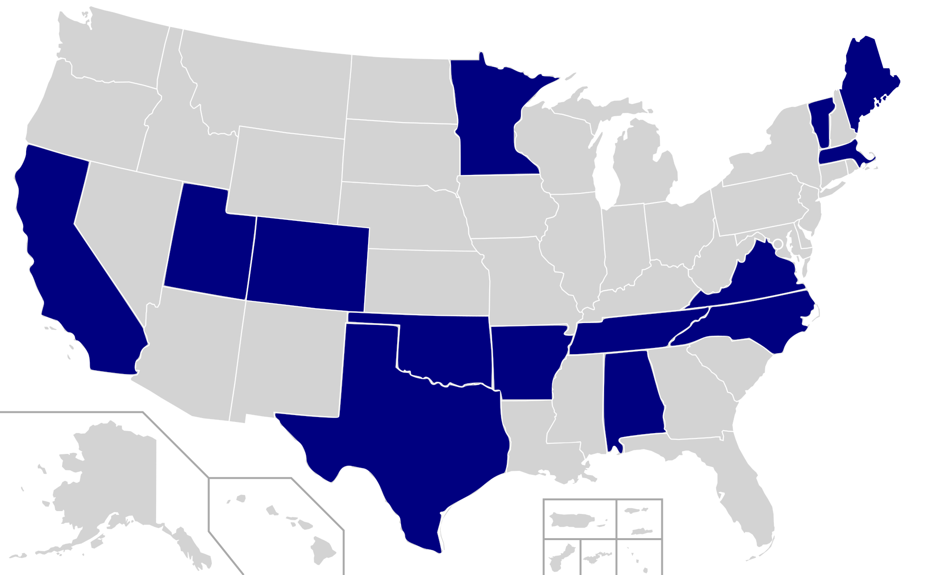 The closest state to Minnesota that will vote on Super Tuesday is Colorado, which is a good 600 miles away. All the other states are in the South or on the coasts.