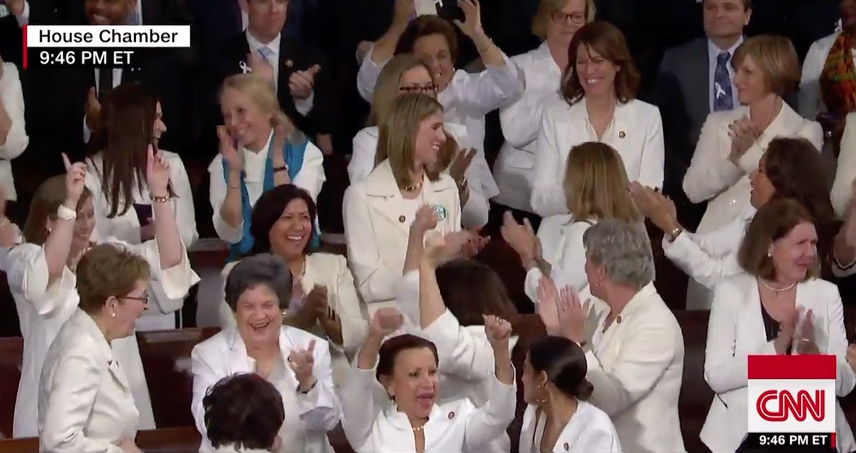 Democratic women at the SOTU