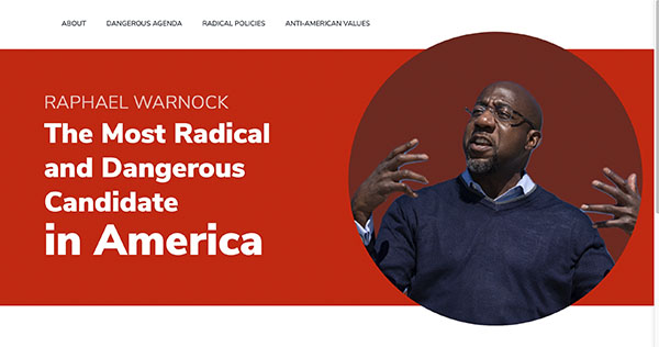 Kelly Loeffler's depiction of Raphael Warnock as a dangerous radical