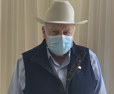 Dick Cheney in a mask
