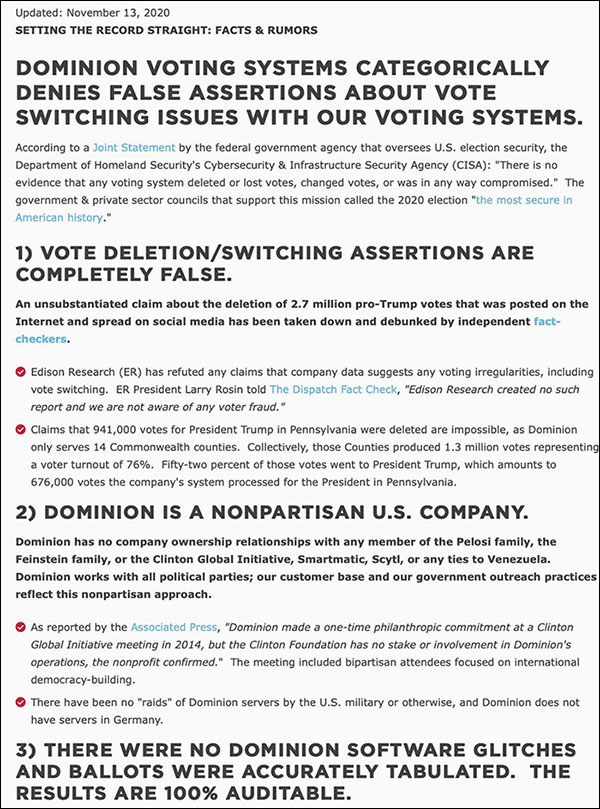 Dominion voting systems home page