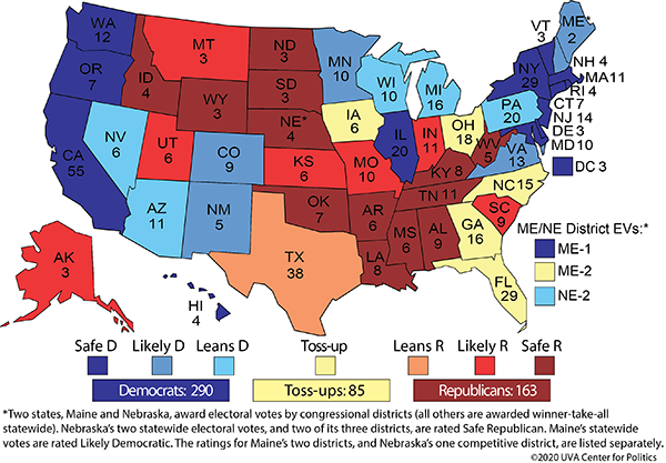 Crystal ball electoral college map