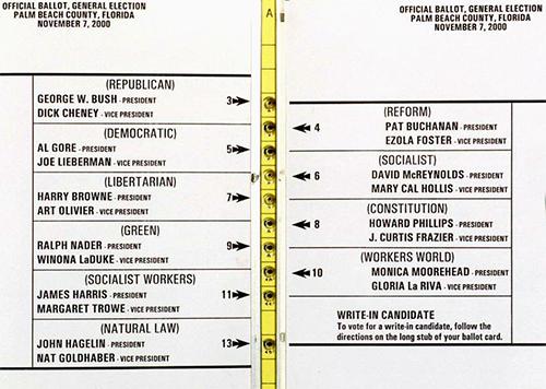 Palm Beach County ballot 2000