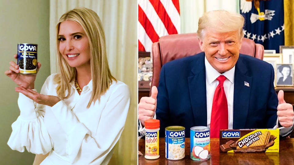 Trumps with Goya products