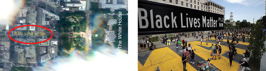 Black lives matter photo from space