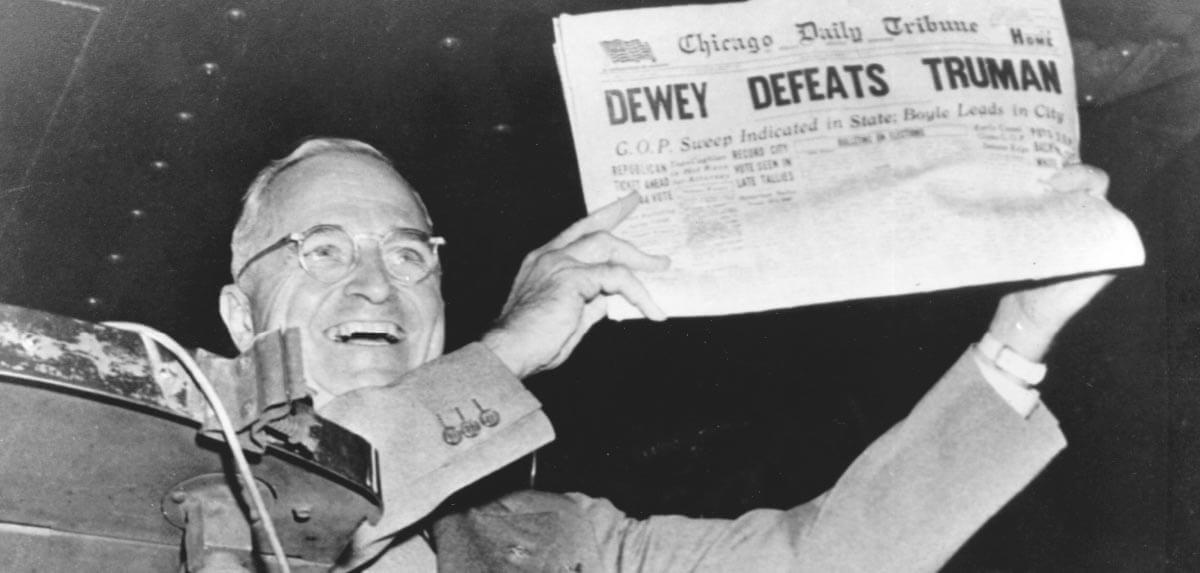 DEWEY DEFEATS TRUMAN headline