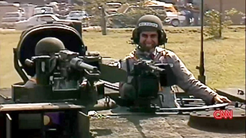 Michael Dukakis in a tank