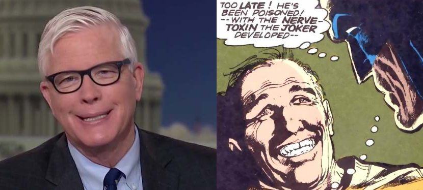 Hugh Hewitt's smile really does look like the vacant, forced smile of a victim of the Joker