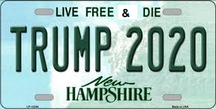A New Hampshire license plate edited such that the slogan 'Live Free or Die' has become 'Live Free and Die'