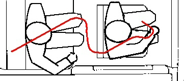 This shows the magic bullet curving around multiple times, an impossible trajectory, as inflicts multiple wounds in both JFK and John Connally