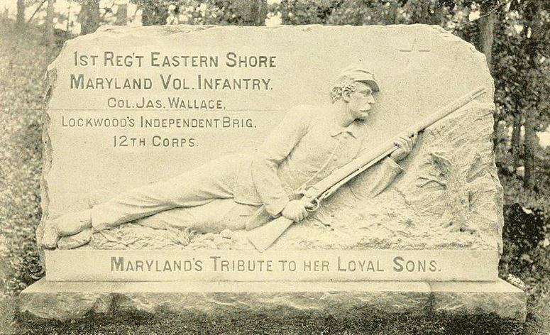 The very bottom says: Maryland's Tribute to her LOYAL Sons