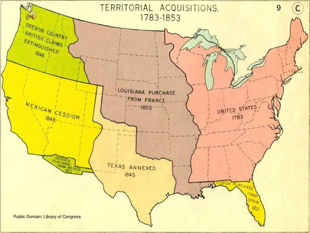 The Mexican cession included  all of the modern states of California, Nevada, and Utah, most of Arizona, and parts of New Mexico, Wyoming, and Colorado