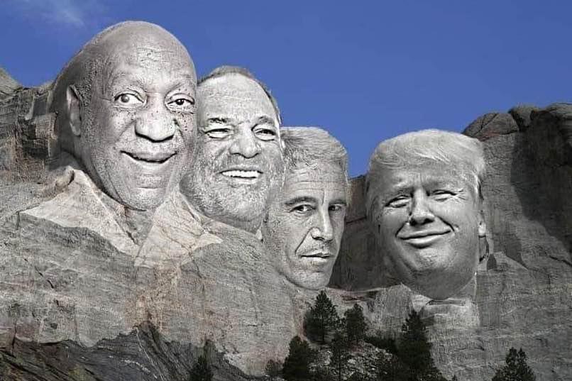Bill Cosby, Harvey Weinstein, Jeffrey Epstein, and Donald Trump