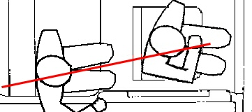 This shows the bullet creating all the same wounds while following a straight line.