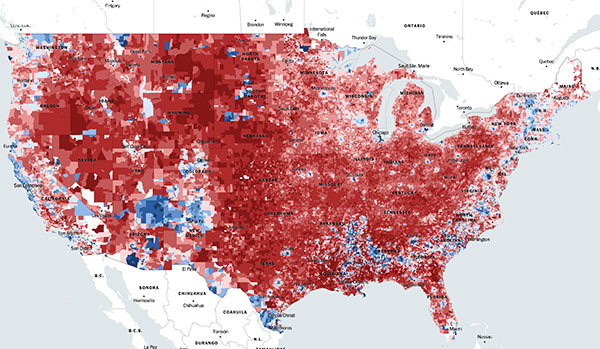 Precinct-level map of the 2016 election