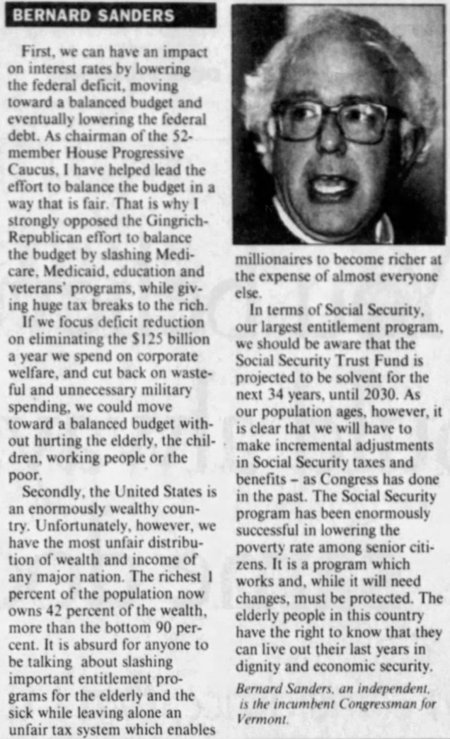 The op-ed is about 750 words and the key passage reads: 'As our population ages, however, it is clear that we will have to make incremental adjustments in Social Security taxes and benefits, as Congress has done in the past.