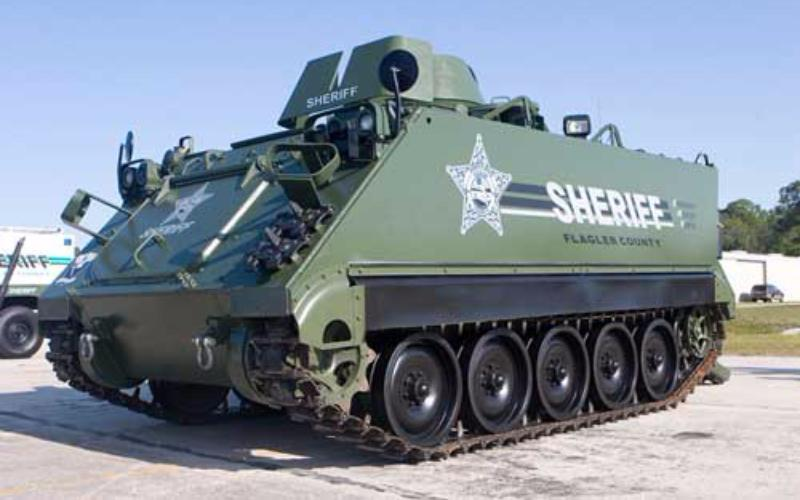 Sheriff's tank