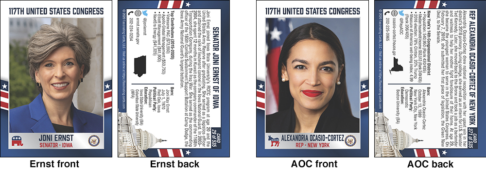 Congressional trading cards