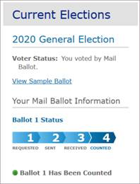 screen shot confirms all four steps in the voting process are complete