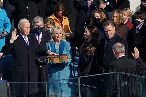 Biden being sworn in