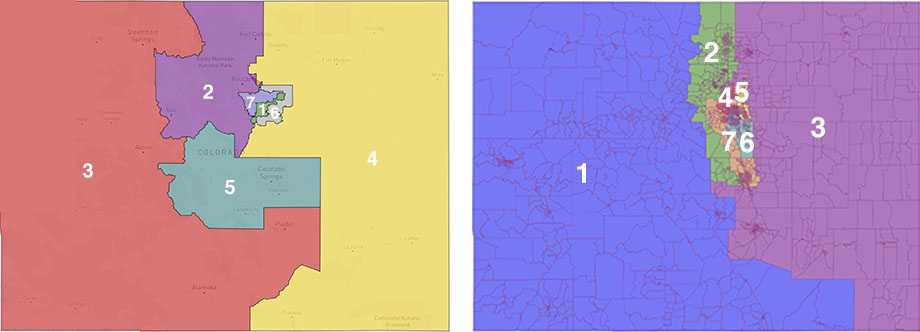 Actual CO map on left, hypothetical map on right