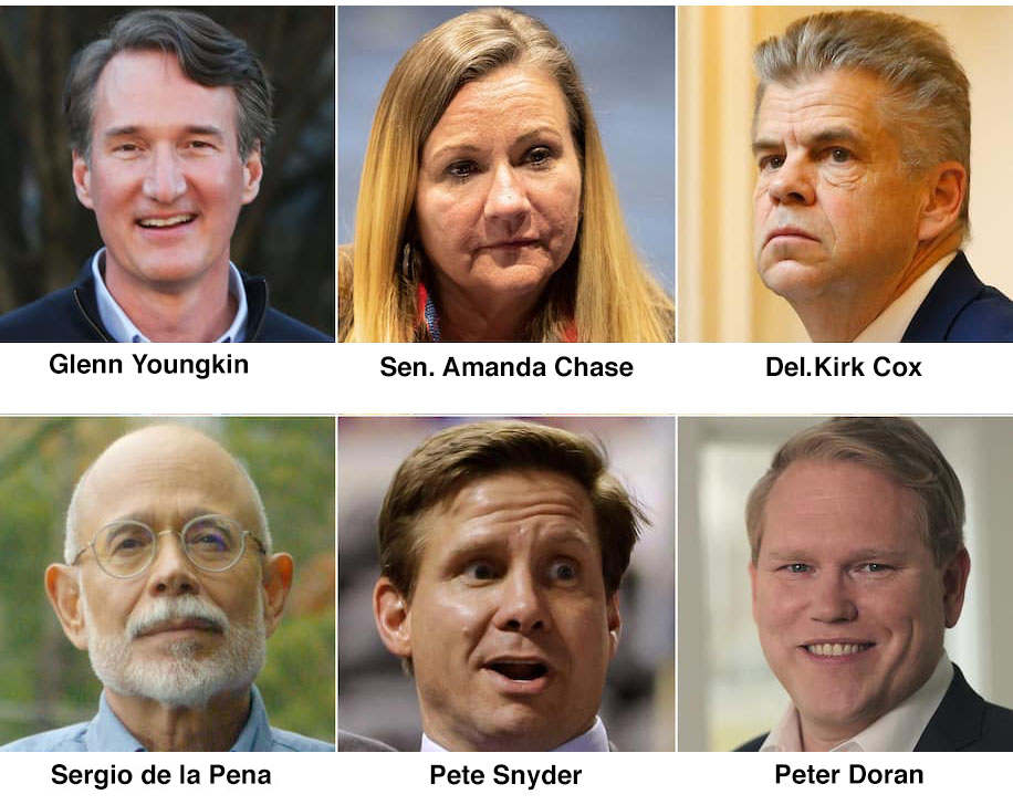 Republicans running for governor of Virginia