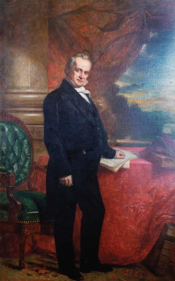 A not terribly good full-length portrait of James Buchanan when he was about 50 years old