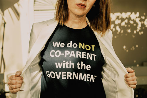 We do not co-parent with the government t-shirt